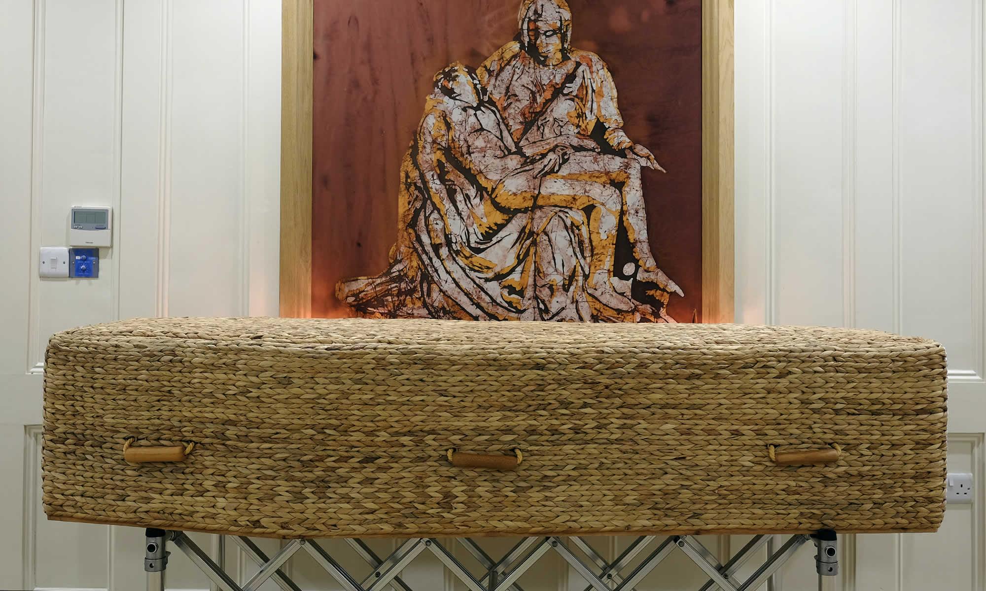 Keller's Funeral Home Nenagh has wicker coffins & caskets.